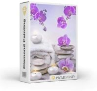 Picmondoo - Diamond Painting Orchideen im Kerzenlicht 40x60cm