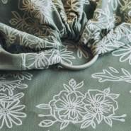 LIMAS | Ring Sling | Geburt bis Kleinkindalter | Bauch- und Hüfttrageweise | diagonal gebundenes Tragetuch Blossom Green Lily