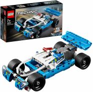 LEGO Technic 42091 'Polizei-Verfolgungsjagd', 120 Teile, ab 7 Jahren, inkl. leistungsstarken Rückziehmotor