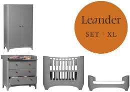 Leander Classic Baby- und Jugendzimmer XL-Set Grau