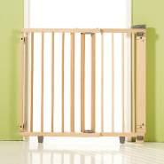 Geuther Treppenschutzgitter, für Türbreiten 65,5 - 105 cm, zum Schrauben, Holz, Natur