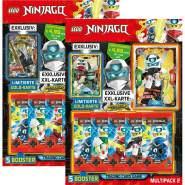 Lego Ninjago - Serie 5 Trading Cards -Alle 2 verschiedenen Multipacks - Version 2 mit XXL Karte+Collect-it Hüllen Sleeves