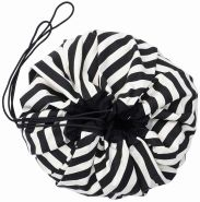 PLAY&GO Spielzeugsack/Spielmatte 140cm Stripes Schwarz STRIPES BLACK