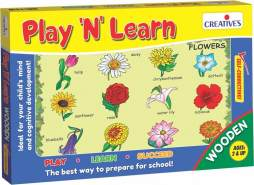 Creative Educational 853,4 cm Play N Learn Holz Blumen Spiel