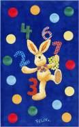 Böing Carpet 'Felix - Zahlenspaß' Kinderteppich blau, 80x150 cm