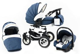 Tabbi ECO LN - 3 in 1 Kombi Kinderwagen Hartgummi Blue