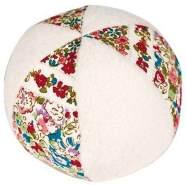 Trousellier Ball mit Rassel  cm rote Blumen
