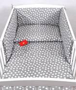 Babylux 'Herzen Grau' Kinderbettwäsche 40x60/100x135 cm