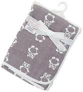 Soft Touch Decke Panda 80 x 78 cm Baumwolle grau/weiß