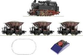 Roco 51159 H0 Start-Set Dampflok BR 80 mit Güterzug der DB
