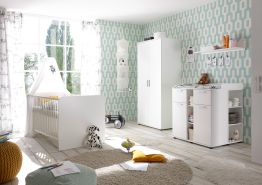 5-tlg. Babyzimmer-Set 'Bibo' 2türig weiß
