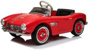 """Kinder Elektro Auto Oldtimer Bmw Retro 507 Kinder Auto Eva Leder Usb Mp3"""