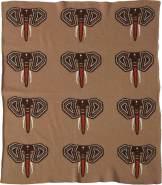 Quax Kuscheldecke Feinstrick Elefanten 65 x 80 cm braun