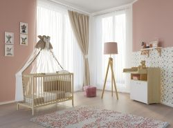 Polini Kids Babyzimmer-Set Ahorn/Natur
