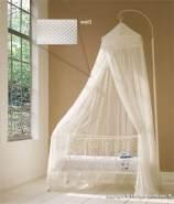 Baldachin für Kinderzimmer in Weiss oder Natur, 60 cm x 240 cm weiß