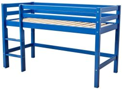 Hoppekids 'Basic' Halbhochbett blau, 90x200 cm