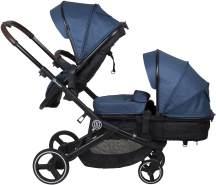 BabyGO 'Twinner' Geschwisterwagen 3 in 1 blue
