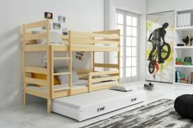 Stylefy Kera mit Extrabett Etagenbett 80x190 cm Eiche Weiß