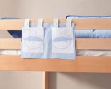 Stofftasche Seitentasche Hängetasche für Hochbett Etagenbett Blau/Boy