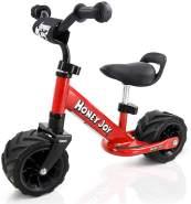 COSTWAY 6,5 Zoll Laufrad, Balance Fahrrad ab 1 Jahre, Balance Bike aus Stahl, Kinderlaufrad mit Pedal, Lauflernrad für Jungen und Maedchen, Kinder Fahrrad Rutschfest, Lernlaufrad 66 x 38 x 55cm Rot