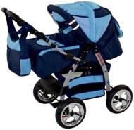 Kinderwagen Magnum + Autositz Royal & Softblue ohne Isofix-Ausstattung mit Winterfußsack Fleece ohne Sonnenschirm