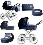 Bebebi Loving | 2 in 1 Kombi Kinderwagen | Nostalgie Kinderwagen | Farbe: Blue Tender