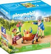 Playmobil City Life 70194 'Oma mit Rollator', 20 Teile, ab 4 Jahren