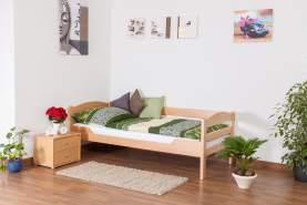 Einzelbett'Easy Premium Line' K1/n/s, Buche Vollholz massiv Natur - Maße: 90 x 200 cm