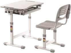 Vipack 'Comfortline' Kinderschreibtisch 201 grau/weiß, inkl. Stuhl
