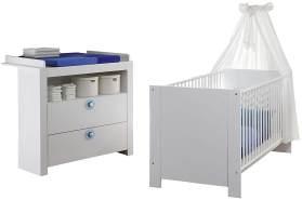 Trendteam 'Olivia' 2-tlg. Babyzimmer-Set weiß/blau 2-teilig Olivia