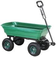 Miweba Bollerwagen Dumper mit Kippfunktion Handkarre Schubwagen Transport 300KG (Grün)