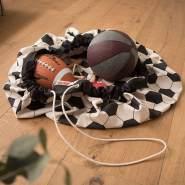 snugo 'Soccer' Aufräumspielsack - großer Fußball (2in1 - Spieldecke u. Spielsack)