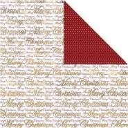Design-Papier, Blatt 30,5x30,5 cm, 180 g, Gold, Frohe Weihnachten und Punkte, 3Bl.