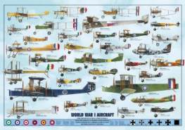 International Publishing 0804N00016B - World War I Aircraft, Klassische Puzzle