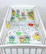 Babylux 'Eule Grau' Kinderbettwäsche 40 x 60/90 x 120 cm