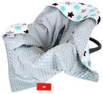 BabyLux 'Sterne' Einschlagdecke 90x90 cm, grau
