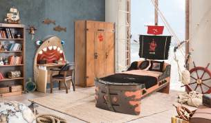 Cilek PIRATE 1 Kinderzimmer Set Komplettset Kinder Spielzimmer Piraten Braun
