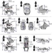 Bebebi Bellami | 2 in 1 Kombi Kinderwagen | Luftreifen | Farbe: Bellanero