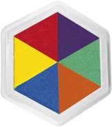 EDUPLAY 220-007 Riesenstempelkissen, Multicolor, 6 Farben, Mehrfarbig (1 Stück)