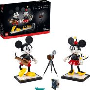 LEGO Disney 43179 'Micky Maus und Minnie Maus', 1739 Teile, ab 18 Jahren, viele fantastische Details, Retro-Optik