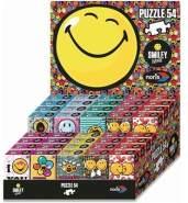 Noris-Spiele NOR38038 - Smiley Minipuzzle, 8-Fach Sortiert, 1 Puzzle, zufällige Motivauswahl