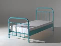 Vipack 'New York' Einzelbett türkis, 90x200 cm