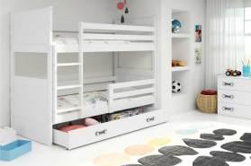 Stylefy Lora Etagenbett 80x190 cm Weiß Weiß