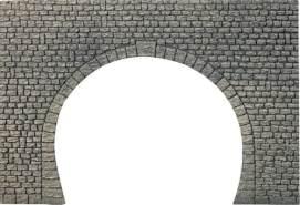 H0 Dekorplatte Tunnelportal, Naturstein-Quader