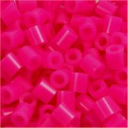 Bügelperlen, Größe 5x5 mm, Lochgröße 2,5 mm, Pink 18, Medium, 6000 Stück