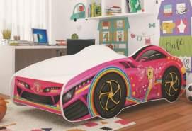 Relita 'CAR KIDS' Autobett rosa/pink/weiß 70x140