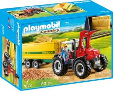 Playmobil Country 70131 'Riesentraktor mit Anhänger', 63 Teile, ab 4 Jahren