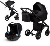 Anex 'e/type' Kombikinderwagen 4 in 1 2020 Noir, inkl. Babywanne und Babyschale Anex