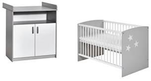 Schardt 'Classic Grey' 2-tlg. Babyzimmer-Set 60 x 120 cm