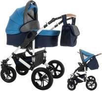 Bebebi myVARIO   2 in 1 Kombi Kinderwagen   Hartgummireifen   Farbe: myBoy